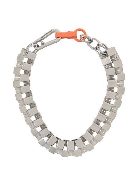 Серебряная цепочка металлическая матовая Heron Preston