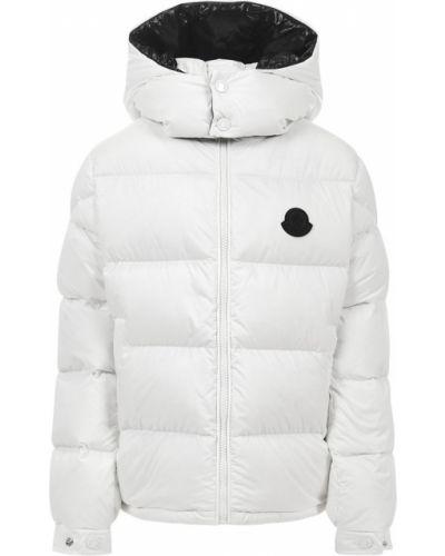 Biała kurtka z kapturem Moncler