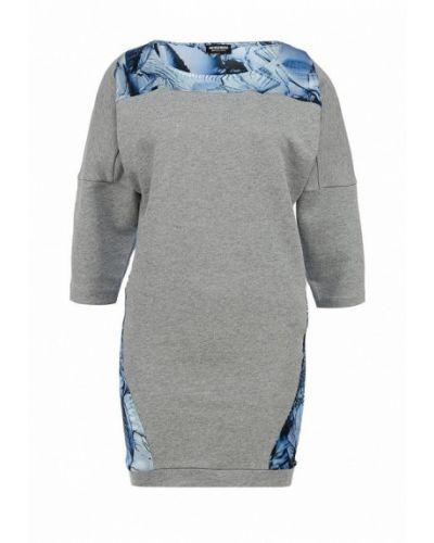 Повседневное серое платье Bikkembergs