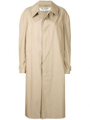 Коричневое длинное пальто Junya Watanabe