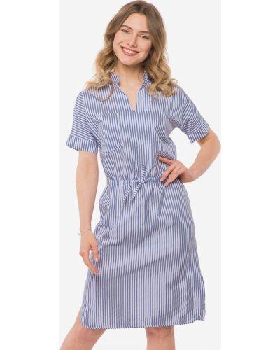 Платье с воротником - синее Modniy Oazis
