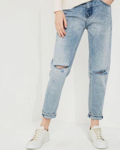 Голубые джинсы с высокой посадкой One Teaspoon