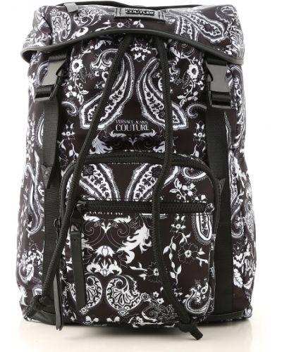 Plecak skórzany - biały Versace Jeans Couture