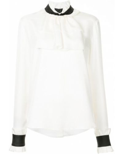 Блузка с длинным рукавом с рюшами шелковая Macgraw