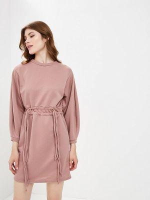 Платье розовое осеннее Lost Ink.