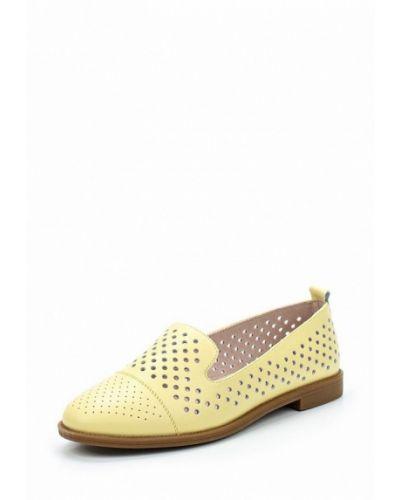 Желтые лоферы на каблуке Alessio Nesca