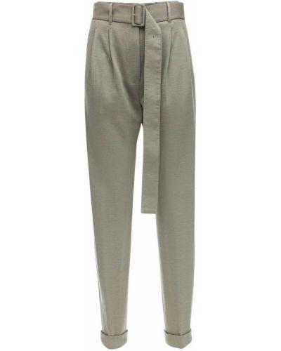 С завышенной талией брюки с карманами с манжетами Agnona