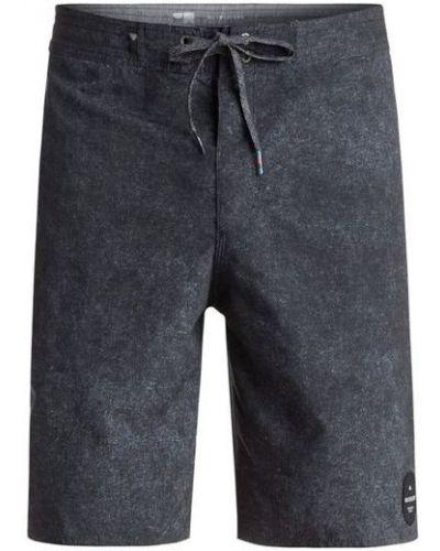 Серые короткие шорты с карманами на шнурках Quiksilver