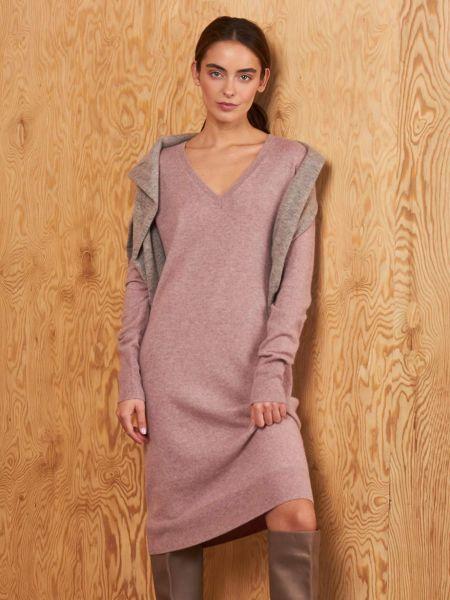 Платье с V-образным вырезом кашемировое 12storeez