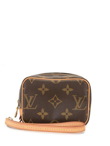 С ремешком кожаный клатч на молнии Louis Vuitton