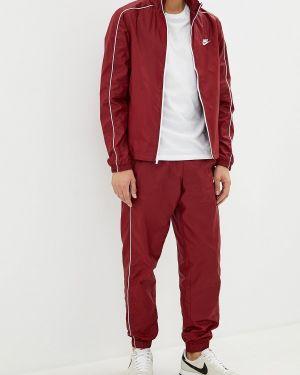 Спортивный костюм красный бордовый Nike
