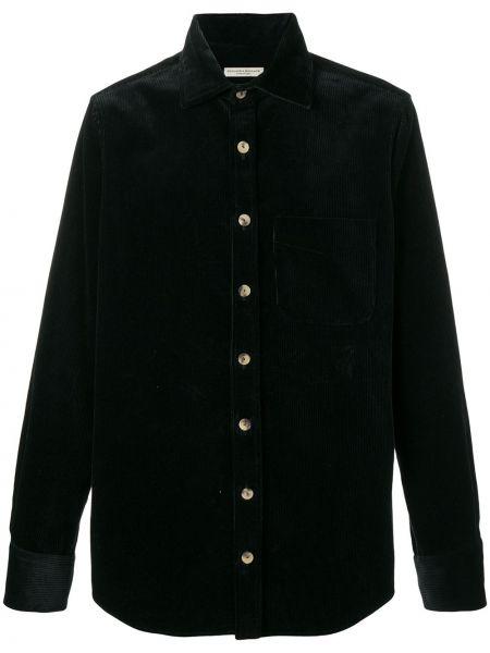 Свободная классическая темно-синяя рубашка на пуговицах Holland & Holland