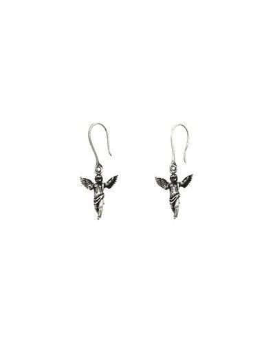 Kolczyki sztyfty srebrne - szare Saint Laurent