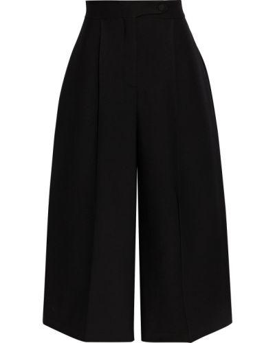 Черные шелковые брюки Valentino