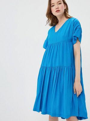 Прямое синее платье Baon