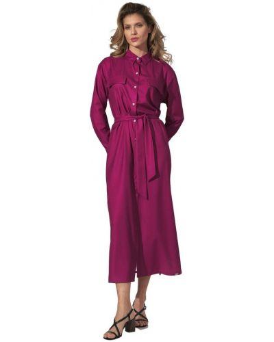 Różowa sukienka długa elegancka Figl