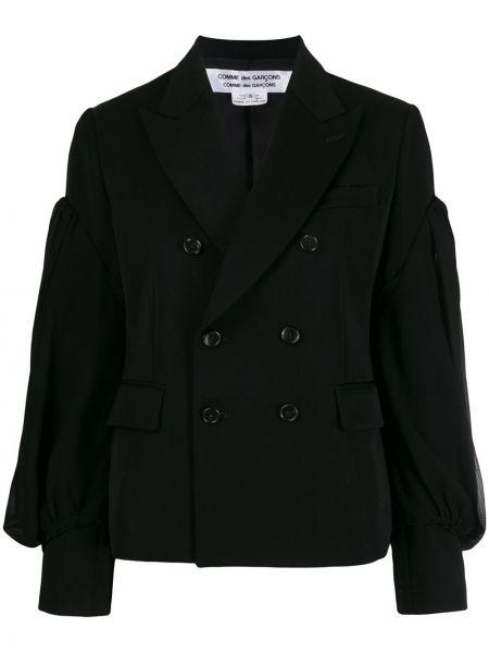 Прямая черная длинная куртка Comme Des Garçons Comme Des Garçons
