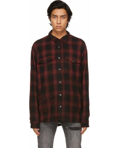 Czarna flanelowa koszula w kratę Ksubi