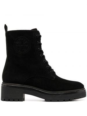 Кожаные ботинки - черные Tory Burch