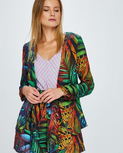 Пиджак с рукавом 3/4 свободный без застежек в стиле кэжуал Answear