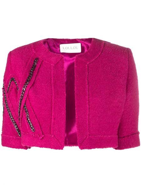 Розовый пиджак с короткими рукавами Loulou