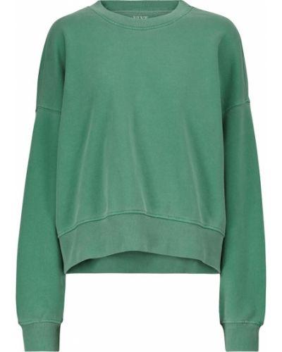 Хлопковый свитшот - зеленый Velvet