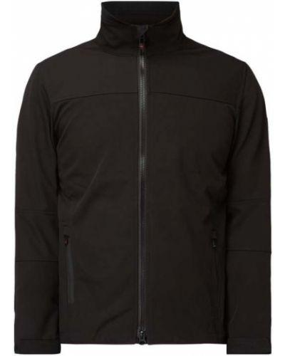 Wodoodporny czarny kurtka softshell z zamkiem błyskawicznym Wellensteyn