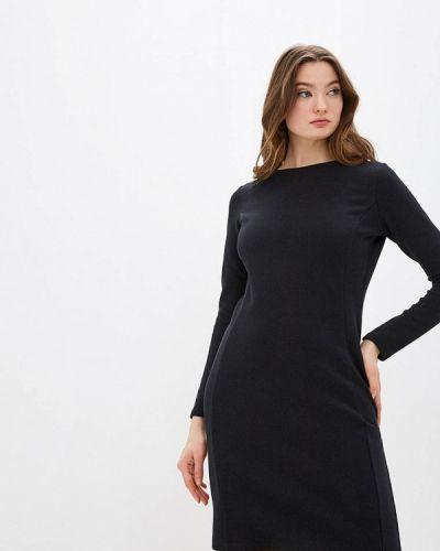 Прямое черное платье Boss