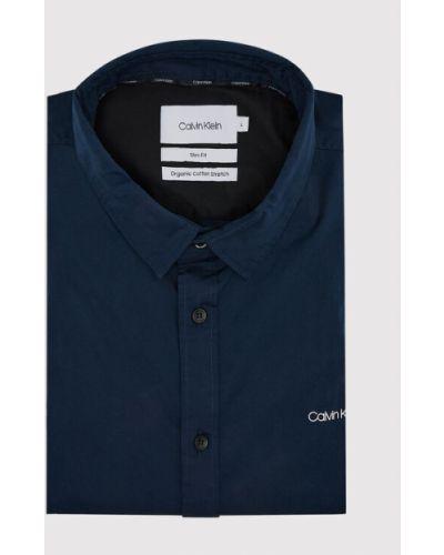 Koszula slim granatowa Calvin Klein