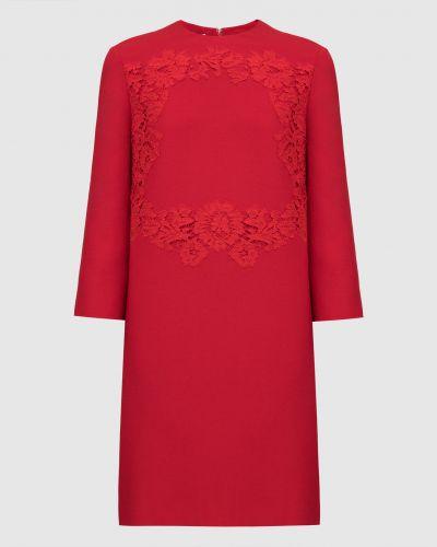 Шелковое красное платье миди Valentino