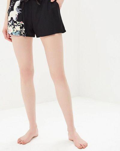Черные брюки домашние Deseo
