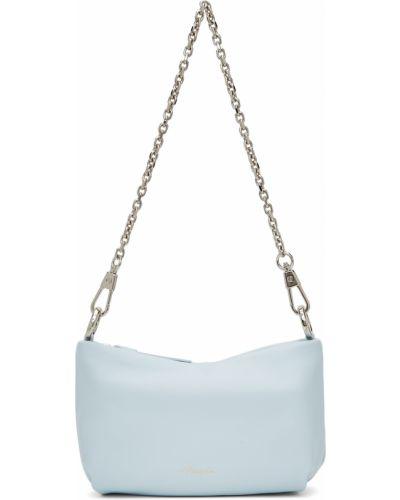 Złota torebka na łańcuszku - niebieska 3.1 Phillip Lim