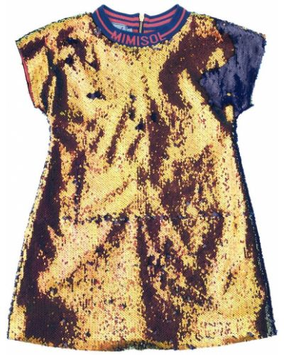 Платье мини на молнии с вырезом с пайетками Mi.mi.sol.