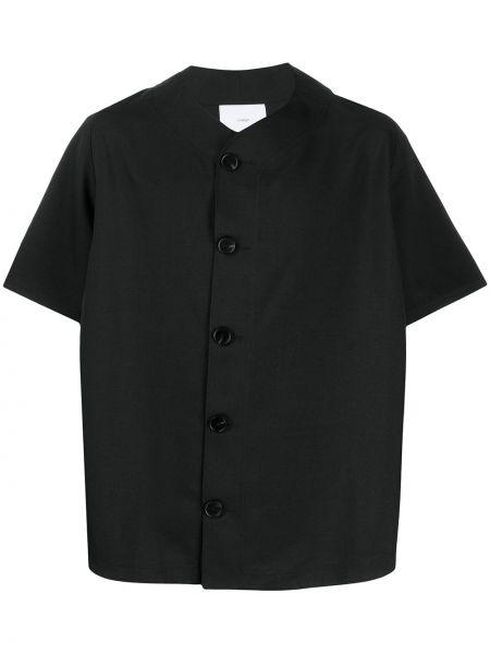 Czarna koszula krótki rękaw z haftem Goodfight