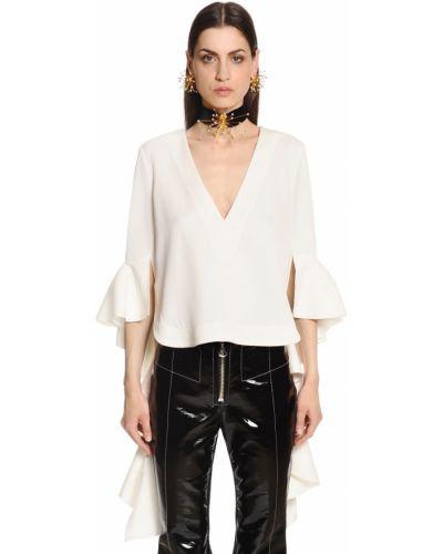 Biała bluzka z falbanami Ellery