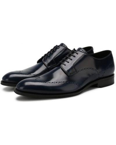 Кожаные туфли синий Dior