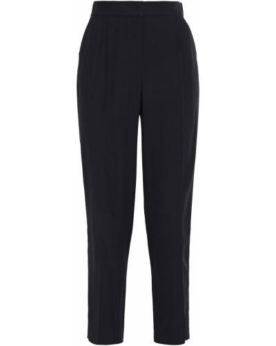 Ażurowe czarne spodnie z wiskozy Akris