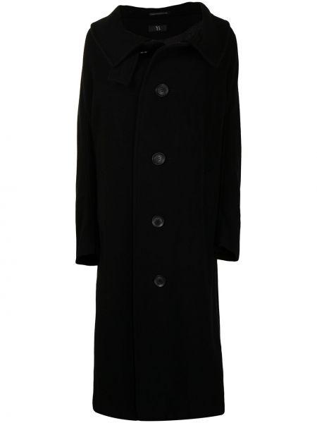 Czarny płaszcz wełniany Ys