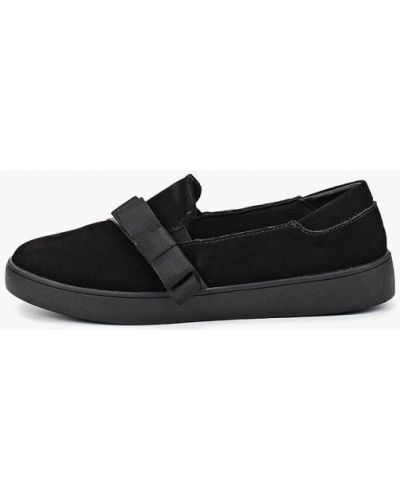 Слипоны черные замшевые Zenden Comfort