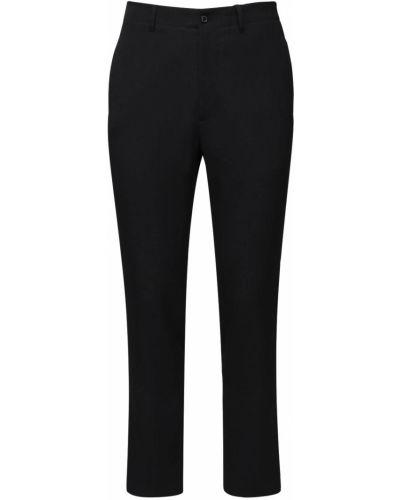 Klasyczne czarne spodnie klasyczne wełniane Rochas