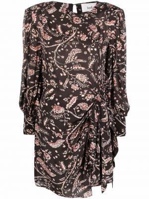 Коричневое платье макси в цветочный принт Ba&sh