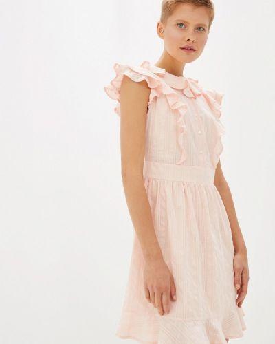 Платье розовое прямое Gepur