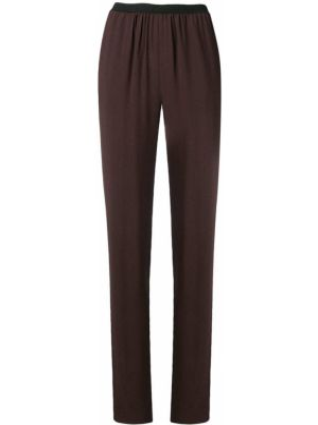 Шерстяные коричневые брюки со складками узкого кроя Antonio Marras