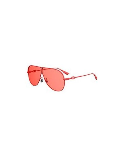 Красные солнцезащитные очки Dior