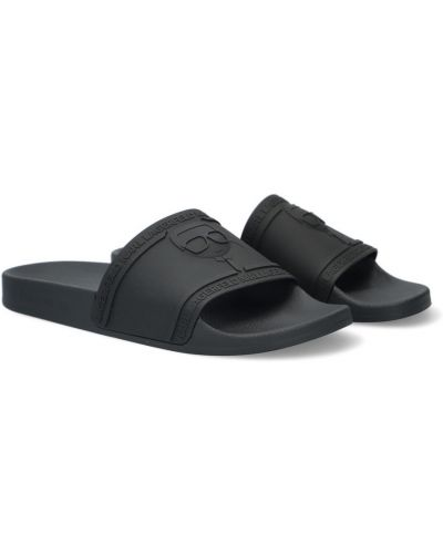 Czarne klapki na lato Karl Lagerfeld
