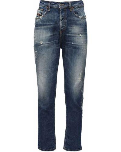 Хлопковые синие джинсы с карманами Diesel
