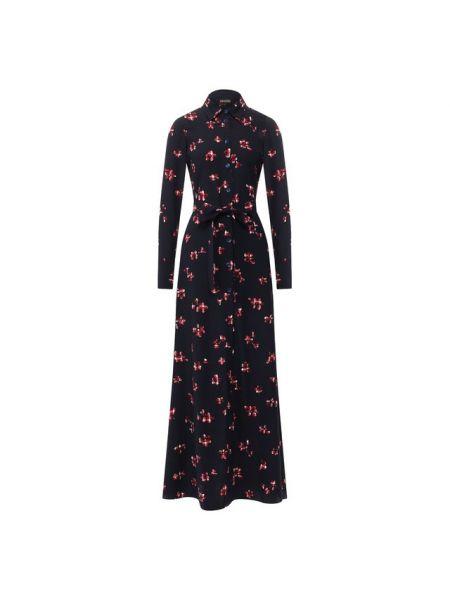 Платье с поясом с цветочным принтом платье-рубашка Poustovit