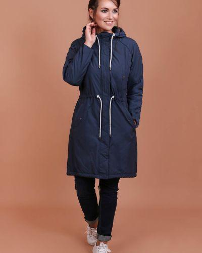 Кожаное пальто с капюшоном в клетку J-splash