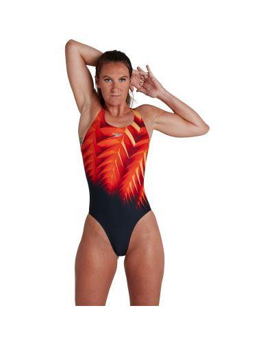 Красный спортивный купальник для бассейна Speedo