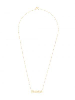 Naszyjnik łańcuch srebrny - czarny Maria Black